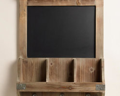 Elliot Chalkboard Cubby and Hook Wall Storage -