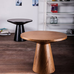 Modloft - Eyre Teak Side Table - Featuring wood base and round table top, this Eyre Teak Side Table is ideal for open office environments, living room areas, etc. Made in Brazil. Brand: Modloft