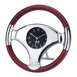 "Kito - 6.25"" High Glossed Wood Trim Steering Wheel Analog Quartz Clock - This gorgeous 6.25"" High Glossed Wood Trim Steering Wheel Analog Quartz Clock has the finest details and highest quality you will find anywhere! 6.25"" High Glossed Wood Trim Steering Wheel Analog Quartz Clock is truly remarkable."
