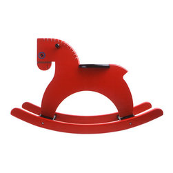 """Playsam Rocking Horse, Red - Houzz Contributor and remodeling expert at Calfinder Margaret, a.k.a. txranchgirl says """"a classic toy with a modern twist, this sleek rocking horse will fit stylishly into any space in the house—whether you have kids or not!"""""""