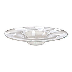 Waterford Crystal - Waterford Crystal Bianco Centerpiece Platter 156151 - Waterford Bianco Centerpiece Platter  -  Don't Buy From An Unauthorized Dealer  -  Genuine Waterford Crystal  -  Fully Authorized U.S. Waterford Crystal Dealer  -  Stamped With The Waterford Seahorse Symbol Of Excellence  -  Waterford Crystal UPC Number: 024258507920