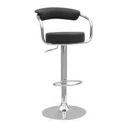 Chintaly Rocky Hill Adjustable Swivel Bar Stool - Please note: This item is not intended for commercial use. Warranty applies to residential use only.