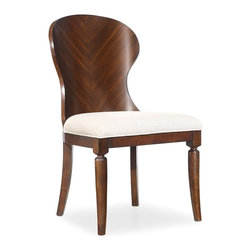 Hooker Furniture - Palisade Wood Back Side Chair - White glove, in-home delivery included!  Palisade offers modern style based on traditional design and a contemporary flair with classic beauty.  Taupe fabric.