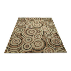 Grandin Road - Veranda All-weather Rug - 2' x 3' - High-performance weave of exceptionally durable, easy-care polyester fibers. Made especially to stand up against the high traffic in craft rooms, entryways, kitchens, and outdoor living spaces. Specially treated to withstand extreme temperatures and UV exposure. Slim, low-profile design. Spot-clean, or simply rinse with the hose. Our Veranda All-weather Rug provides mosaic elegance expertly re-created in hand-hooked yarns and crafted to endure in your most challenging spaces. . . . . . Imported.