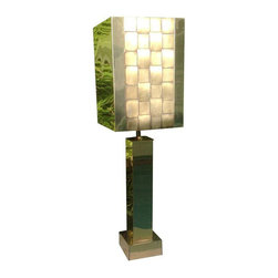 1976 Curtis Jere Brass Table Lamp - $2,000 Est. Retail - $1,450 on Chairish.com -