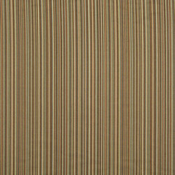 Brown And Teal Thin Striped Upholstery Jacquard Fabric By The Yard - This multipurpose fabric is great for residential upholstery, slipcovers and pillows. This material is woven for enhanced elegance, and will exceed 35,000 double rubs (15,000 is considered heavy duty)