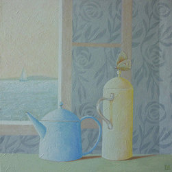 """Still Life With Coffee Pots"" (Original) By Lana Wynne - One Of My Favorite Subjects To Paint - Still Life With A Presence Of Life."