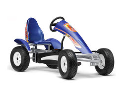 BERG - BERG Racing AF Pedal Kart - The vibrant blue and silver design of this BERG racing pedal kart is so sporty.  It makes you feel like a real speed demon .  You can drive nimbly, accelerate easily and reach top speed in no time.