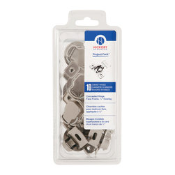 Hickory Hardware - Project Pack Bright Nickel Concealed Face Frame with Overlay (10-pack) - VP5125-14 Project Pack Bright Nickel Concealed Face Frame with 1/2 In. Overlay (10 pack).