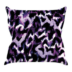 "Kess InHouse - Ebi Emporium ""Wild at Heart - Purple"" Lavender Throw Pillow (18"" x 18"") - Rest among the art you love. Transform your hang out room into a hip gallery, that's also comfortable. With this pillow you can create an environment that reflects your unique style. It's amazing what a throw pillow can do to complete a room. (Kess InHouse is not responsible for pillow fighting that may occur as the result of creative stimulation)."