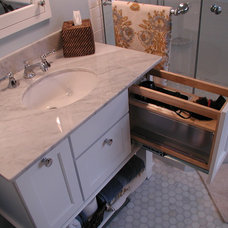 Eclectic Bathroom Storage by Woodmaster Kitchens