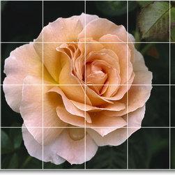 Picture-Tiles, LLC - Flower Picture Mural Tile F360 - * MURAL SIZE: 48x72 inch tile mural using (24) 12x12 ceramic tiles-satin finish.