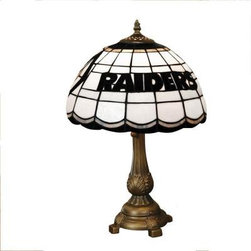 The Memory Company - Novelty Lamps: NFL Oakland Raiders Stained Glass Tiffany 19.5 in. Table Lamp NFL - Shop for Lighting & Fans at The Home Depot. Our popular Stained Glass Table Lamp continues to be a welcome addition in homes and offices with its warm glow illuminating the hearts and spirits of fans everywhere. The hand cut Tiffany style glass shade and the cast metal base. Bask in the glow of you.