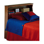 Fashion Bed - Fashion Bed Barrister Wood Bookcase Headboard in Bayport Maple Finish-Twin - Fashion Bed - Headboards - 51A653 - Functional, practical and comfortably confident, the Barrister will be a stylish addition to any home. It has a convenient shelf to store books, a clock and other necessary treasures.
