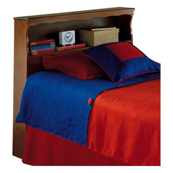 Fashion Bed - Fashion Bed Barrister Wood Bookcase Headboard in Bayport Maple Finish-Queen - Fashion Bed - Headboards - 51A655 - Functional, practical and comfortably confident, the Barrister will be a stylish addition to any home. It has a convenient shelf to store books, a clock and other necessary treasures.