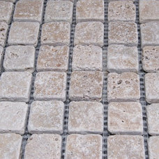 Mediterranean Tile by Rocks in Stock