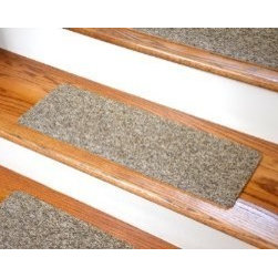 "Dean Flooring Company - Dean Non-Skid DIY Peel & Stick Carpet Stair Treads - Color: Beige & Brown Tweed - Dean Affordable Non-Skid DIY Peel & Stick Carpet Stair Treads - Color: Beige & Brown Tweed - Set of 13 : Affordable Non-skid Peel and Stick DIY Carpet Stair Treads by Dean Flooring Company. Extend the life of your high traffic hardwood stairs. Reduce slips/increase traction. Cut down on track-in dirt. Reduce noise. Add a fresh new look to your staircase. Helps you and your dog easily navigate your slippery hardwood stairs. 100% Nylon. Made in the USA!  Set includes 13 peel and stick carpet stair treads for quick, convenient, easy, do-it-yourself installation. Each tread measures approximately 23"" x 8"". Our all new exclusive adhesive peel and stick strips (not double-sided tape) make do-it yourself installation a breeze. Adhesive will NOT damage your hardwood flooring. Easy to remove if you later decide to remove your carpet stair treads. Adhesive strips come pre-applied. No additional installation products needed. Edges will not fray.  Rounded corners. This product is manufactured and sold exclusively by Dean Flooring Company. Add a touch of warmth and style to your stairs today with new stair treads from Dean Flooring Company!"