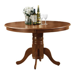 Cramco - Cramco Elmyra Antique Oak Solid Wood Top Dining Table - Features: