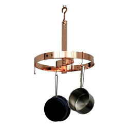 "Enclume - Enclume ""S"" Rack Pot Rack Copper Plated - Increase your kitchen storage space substantially — and stylishly. This handsome copper rack has an ""S"" curve in the center to give you more room to hang cookware essentials."
