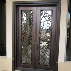 Eclectic Front Doors by D'Hierro Hand Forged Iron