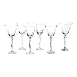 M. F Cristal De Paris - Set of 6 Large Orleans Glasses - By combining hand-engraved pieces with great classic styles, MF Cristal de Paris offers a complete range of table and decorative crystal ware. These modern and elegant designs are perfect for everyday sipping as well as special soirees.