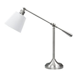 Threshold Silver Adjustable Table Lamp - An adjustable swing-arm table lamp is the perfect companion to a desk in a home office. It's practical and stylish.