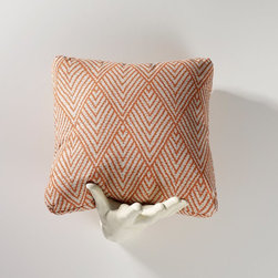 Homeware - Homeware Tangerine Accent Pillows - Set of 2 Multicolor - HWP011-18-123TAN - Shop for Pillows from Hayneedle.com! On-trend zigzag patterns and refreshing hues of tangerine make the Homeware Tangerine Accent Pillows - Set of 2 a stylish addition to any home. With a cotton exterior and a polyester fiberfill pad these pillows are comfortable and soft-to-the-touch. Choose between two sizes for your space.Not available for sale in or delivery to the state of California.About HomewareHomeware is driven by an innovative spirit and a passion to change the way America buys and lives with furniture. Homeware wants to save you from shopping in a big box bringing home a smaller box and ultimately being psychologically harmed by your encounter with a slew of parts and incomprehensible assembly instructions. Instead of that Homeware supports your choice to shop in your jammies and Homeware is determined to support your success. Homeware chairs are made to live and move with you. They come to you in two pieces within two special boxes and regardless how rudimentary your handyman skills may be YOU can assemble them without tools. Within minutes they assure you you will be enjoying a chair that's as sturdy and solid as any you've beheld. The secret? It's designer and engineer Jon Koch's ingenious and revolutionary fastening device which makes possible speedy chair assembly by the mechanically uninitiated. Homeware keeps a stable of furniture savants on call 24-7 to answer your questions including but not limited to questions about their chairs and pillows and they stand behind their products with bravado.