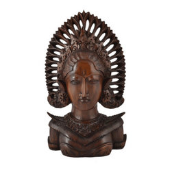 BaliBoutiqueOnLine - Bali Beauty - Bali Beauty- Intricately carved traditional Balinese dancer exclusively at Bali Boutique. Free standing or ready to hang on your wall today.