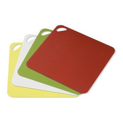 Dexas Flexi Cutting Boards, Set of 4 - We are a big fan of flexible plastic cutting boards which are so easy to put into the dishwasher and sanitize. While I prefer wood boards for many tasks, I have several of these for use with things like chicken in order to prevent any risk of cross-contamination.