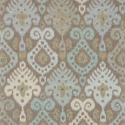 "Loloi Rugs - Loloi Rugs Milano Collection - Grey/Mist, 5'-0"" x 7'-6"" - The Milano Collection from India celebrates popular, high-fashion Ikats, but with a twist. Here, a chunky, hand-hooked construction in 100-percent wool adds lush texture and dimension to this series of nine distinctive, large-scale Ikat patterns. Complemented with a designer palette that will enliven any room, the Milano Collection comes in a full spectrum of up-to-date brights and neutrals."