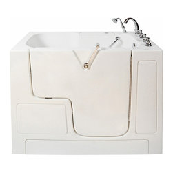 Wheelchair Access Whirlpool and Air Massage Tub - Features: