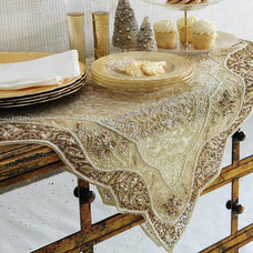 Modern Tablecloths Golden Embroidered Table Linen