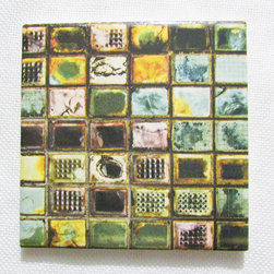 Custom Photo Factory - Daltile Colorful Glass Wall Ceramic Wall Tiles - Pack of/Case of: 20 Tiles. Samples Available for purchase. All of our tiles are printed on white ceramic Daltile; the same high quality tiles found at the hardware store. Our ceramic tiles are permanent designs. They are scratch resistant and highly resistant to chemical wear and sunlight. As a matter of fact, our tiles will never fade, even in direct sunlight, 24 hours a day. The only way to damage the print is to damage the tile itself by breaking it. For use in residential and commercial. Glazed glossy finish with a high sheen and uniform appearance in tone. Dimensions of tile: 3 inches x 6 inches or 4 inches x 4 inches (actual 4-1/4 in. x 4-1/4 in). Installation: Indoor and outdoor use on walls in your kitchen and bath and living area.
