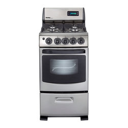 "Danby - 20"" Gas Range-Stainless Steel Appearance - Space saving 20"" wide gas range"