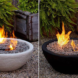 Outdoor Ventless Fire Bowl - This firepit is so cool because it can be used indoor and outdoor. It's simple and burns without soot. It feels natural and modern at the same time.