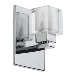Dainolite - Dainolite 83891A-PC Cube Crystal 1 Light ADA Compliant Bathroom Sconce - Features: