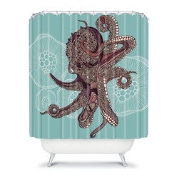 DENY Designs - DENY Designs Valentina Ramos Octopus Bloom Shower Curtain - 13489-SHOCUR - Shop for Shower Curtains from Hayneedle.com! Lather up with a creature from the deep with the DENY Designs Valentina Ramos Octopus Bloom Shower Curtain hanging in your bathroom. The vibrant and fun designer print of this woven polyester shower curtain really makes your bathroom come to life.About DENY DesignsDenver Colorado based DENY Designs is a modern home furnishings company that believes in doing things differently. DENY encourages customers to make a personal statement with personal images or by selecting from the extensive gallery. The coolest part is that each purchase gives the super talented artists part of the proceeds. That allows DENY to support art communities all over the world while also spreading the creative love! Each DENY piece is custom created as it's ordered instead of being held in a warehouse. A dye printing process is used to ensure colorfastness and durability that make these true heirloom pieces. From custom furniture pieces to textiles everything made is unique and distinctively DENY.