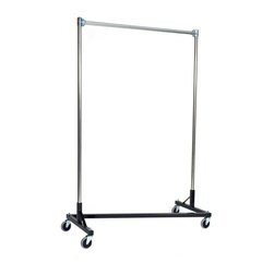 "Quality Fabricators - Z-Rack - Heavy Duty 60"" Long Base Single Rail w/ 84"" Uprights Black - With 82"" of vertical hang space, and 58"" of horizontal space, this Z- rack boasts the extra room you need to expand. Because it is extra-tall, our Z-rack is used by bridal shops, formal wear stores, church choirs and costumers alike. But that doesn t mean it wouldn t be perfect for your organizational needs. With a five foot base, seven foot uprights, and 500 lbs in load capacity, we think you ll find it to be an all-purpose addition to any garage, basement or storage unit."