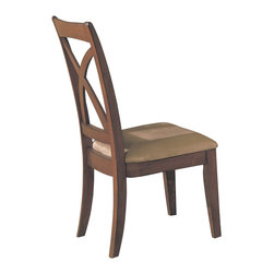 Homelegance - Homelegance Star Hill Side Chair in Cherry - Enhance your personal style with this clean and stylish dining table and chairs. Rectangular table is ideal for entertaining while round table encourages conversation, prefect for today's buyer. Available in cherry finish.
