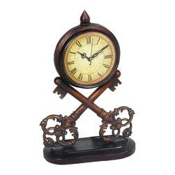 Sterling Industries - Key Metal Clock - Key Clock ( 1- AA Battery Not Included) by Sterling Industries