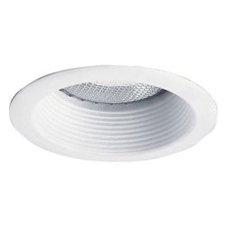 Progress Lighting - Progress Lighting 5 In. White Step Baffle Trim P8175-28 - Shop for Lighting & Fans at The Home Depot. Step Baffle trim. Our full reflector design ensures each lamp is precisely positioned for a uniform appearance throughout your home. Also, this feature eliminates both light leaks and the tendency of recessed trims to sag from the ceiling over time.