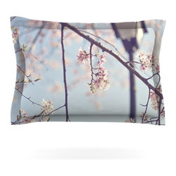 "Kess InHouse - Catherine McDonald ""Walk with Me"" Cherry Blossom Pillow Sham (Woven, 40"" x 20"") - Pairing your already chic duvet cover with playful pillow shams is the perfect way to tie your bedroom together. There are endless possibilities to feed your artistic palette with these imaginative pillow shams. It will looks so elegant you won't want ruin the masterpiece you have created when you go to bed. Not only are these pillow shams nice to look at they are also made from a high quality cotton blend. They are so soft that they will elevate your sleep up to level that is beyond Cloud 9. We always print our goods with the highest quality printing process in order to maintain the integrity of the art that you are adeptly displaying. This means that you won't have to worry about your art fading or your sham loosing it's freshness."