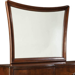 Standard Furniture - Standard Furniture Park Avenue II Irregular Mirror in Dark Golden Brown - Quietly chic describes the upscale transitional persona of Park Avenue, with its smooth understated contemporary lines and elegant cherry veneer patterns.