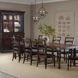 Hooker Furniture - Hooker Furniture Eastridge Rectangle Dining Table with Two 18-inch Leaves 5177-7 - Includes Dining Table only