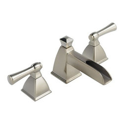 "Brizo - Brizo 65345LF-BN Brushed Nickel Vesi Vesi Bathroom Faucet Double - Vesi Low Lead Compliant WaterSense Double Handle Widespread Bathroom Faucet with Metal Lever HandlesChannel design captures the sound and feel of a babbling brook to create an indulging, unique sensory experience. Features channel spout. Mounts to 1 1/8"" deck thickness; RP10612 mounting aid available for an additional 1"".Faucet Features:Two-handle lavatory faucets for concealed mounting on 3 hole sinks.Widespread – 6"" to 16"" centers.Ceramic disc valving.Hot and cold stems are interchangeable.Solid brass fabricated end valve and spout bodies.1/4 turn stops may be removed for 180- rotation.Quick connect hoses and self-locating bases.Metal drain has pop-up type fitting with plated flange and stopper.Maximum 1.5 gpm flowrate @ 60 PSI.Note: Standard mounting deck thickness can be extended 1"" with RP1061.Faucet Specifications:ADA Compliant: NoLow Lead Compliant: YesWaterSense Certified: YesOverall Height: 4.25""Width: 2.25""Spout Height: 1.75""Spout Reach: 5.1250""Faucet Centers: 6"" - 16""Faucet Holes: 3Flow Rate (GPM): 1.5Product Weight: 8.400 lbs.Number Of Handles: 2Handle Style: Metal LeverHandles Included: YesDrain Assembly Included: YesEscutcheon Included: NoMounting Type: WidespreadValve Included: YesValve Type: Ceramic DiscBrizo Faucet TechnologiesWaterSense: The WaterSense label signifies Brizo s commitment to working with the Environmental Protection Agency (EPA) to encourage the efficient use of water and actively protect the future of our nation s water supply. WaterSense labeled faucets use 20% less water and perform as well or better than their less efficient count"