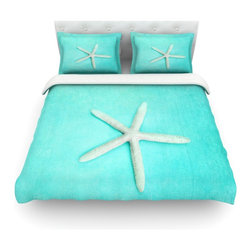 """Kess InHouse - Sylvia Cook """"Starfish"""" Cotton Duvet Cover (Queen, 88"""" x 88"""") - Rest in comfort among this artistically inclined cotton blend duvet cover. This duvet cover is as light as a feather! You will be sure to be the envy of all of your guests with this aesthetically pleasing duvet. We highly recommend washing this as many times as you like as this material will not fade or lose comfort. Cotton blended, this duvet cover is not only beautiful and artistic but can be used year round with a duvet insert! Add our cotton shams to make your bed complete and looking stylish and artistic! Pillowcases not included."""