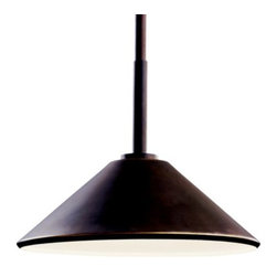 """Kichler - Ripley Outdoor Pendant by Kichler - The Kichler Lighting Ripley Outdoor Pendant features a handsome Craftsman-style design and strong, durable construction. Will work nicely in transitional patios, outdoor dining areas and front porches. When used with an R14 40-W bulb (not included), this pendant is Dark Sky compliant. A minimalist look without neglecting style.Since 1938, Cleveland-based Kichler Lighting has created exceptional lighting in a variety of styles, finishes, colors and designs. With a diverse collection of indoor and outdoor lighting in classic and contemporary styles, Kichler Lighting always focuses on making home lighting that is both beautiful and functional.The Kichler Lighting Ripley Outdoor Pendant is available with the following:Details:Aluminum constructionRound ceiling canopyTwo 6"""" and two 12"""" stems (.5"""" diameter)UL Listed for damp locations. Install indoors or in protected, fully covered outdoor locations. Using UL Listings to help select the right product for your space.Dark Sky compliant when used with R14 40-W lamp (not included)Options:Finish: Brushed Nickel, or Olde Bronze (shown).Lighting: One 40 Watt 120 Volt Incandescent lamp (not included), or one 60 Watt 120 Volt Incandescent lamp (not included).Shipping:This item usually ships in 3-5 days."""