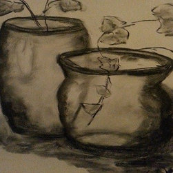 ~Charcoal Still Life~ (Original) by Cynthia Jackson - Simple but Elegant Charcoal Still Life Drawing