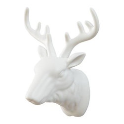 Warden Deer Head Wall Decor - Oh, deer! This is so cute, and I love that there's no harm done when mounted on the wall.