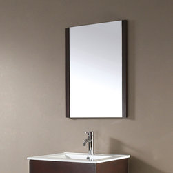 None - Avanity Loft 24-inch Mirror in Dark Walnut Finish - Complement your bathroom vanity with the elegant Avanity loft poplar framed mirror in a dark walnut finish. Featuring a vertical orientation,this mirror includes wood cleat on back and mounting hardware that makes leveling easy.